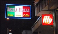 Bella Italia restaurant in Pattaya with Illy caffe'